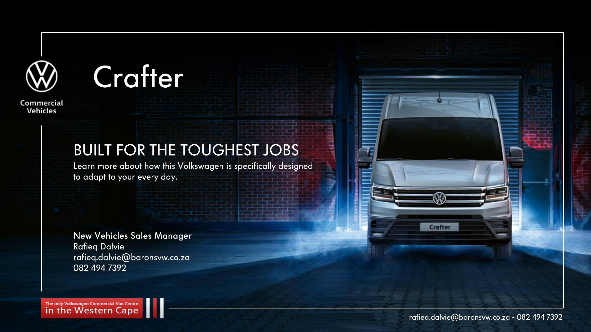 Reasons to buy the VW Crafter